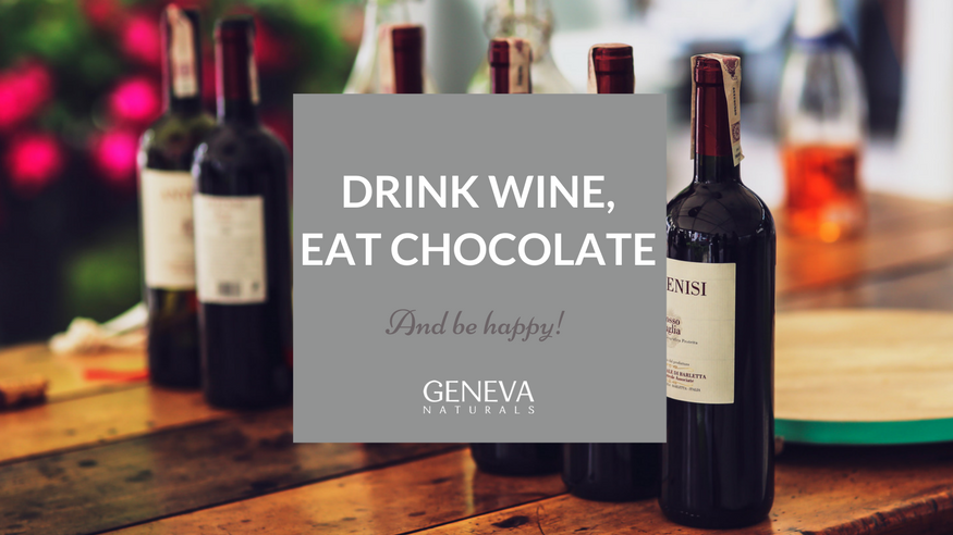 benefits of red wine and dark chocolate