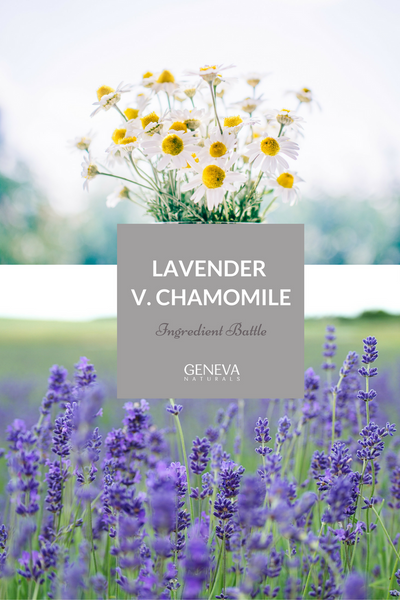 lavender and chamomile for skin care