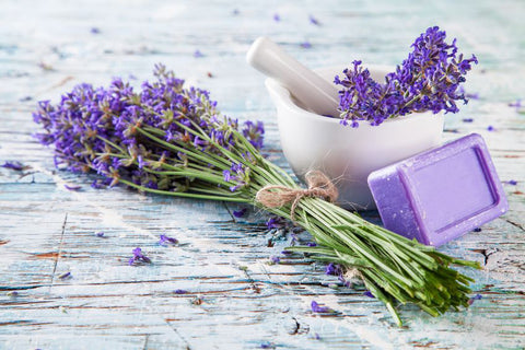 lavender bunch with soap