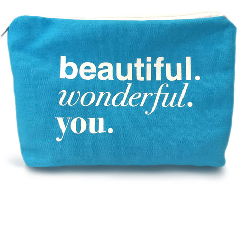 Limited Edition Beautiful. Wonderful. You. Canvas Beauty Bag