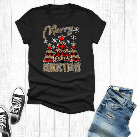 Gold Merry Chirstmas Black