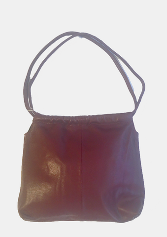 Drawsting Leather  Hobo Bag