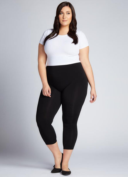 Plus Size Bamboo Capri Leggings