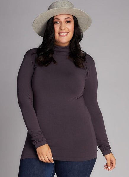 Plus Size Bamboo Turtleneck