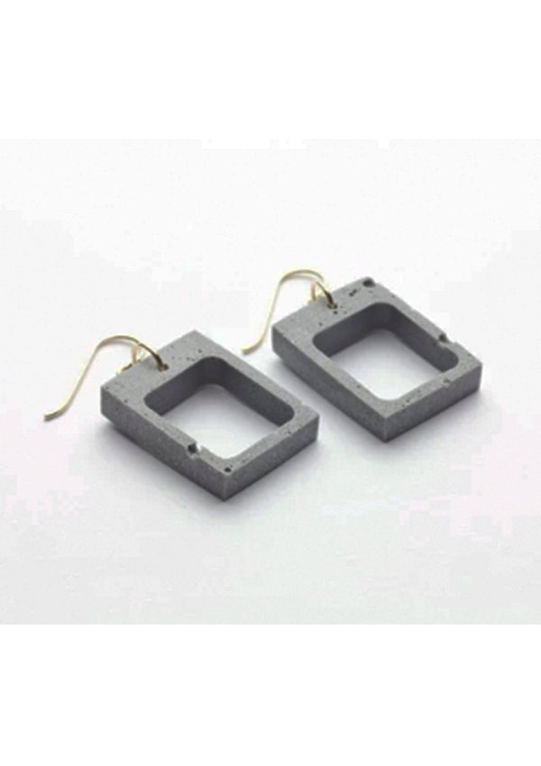 Cement Outline Earrings