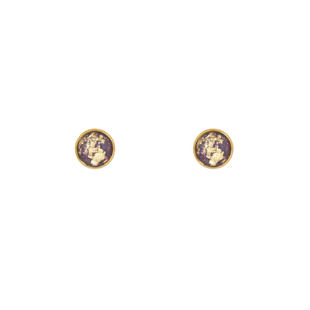 Gold Foil Stud Earrings