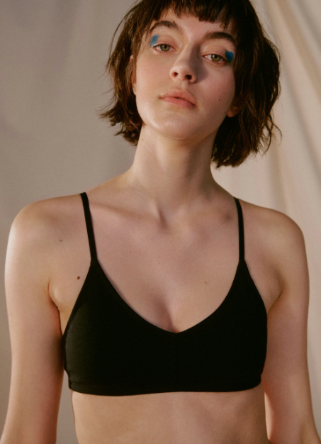 Cotton Bralette Black
