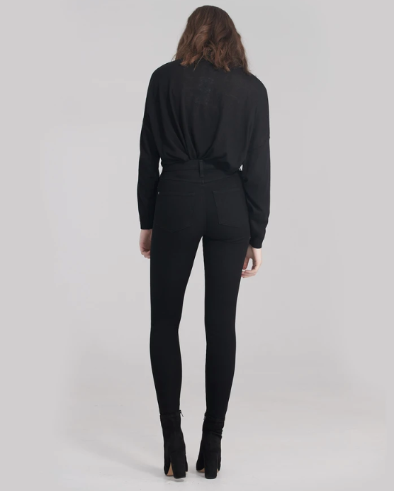 Sky Rise Skinny Black - 360 stretch