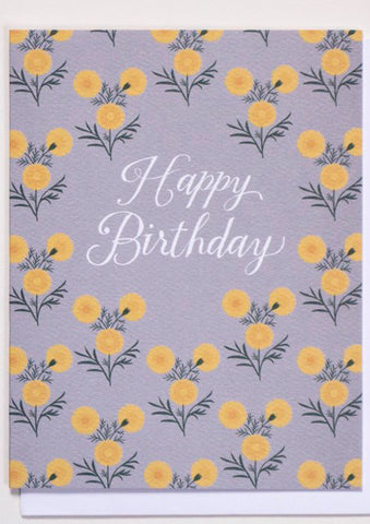 Birthday Marigolds Card
