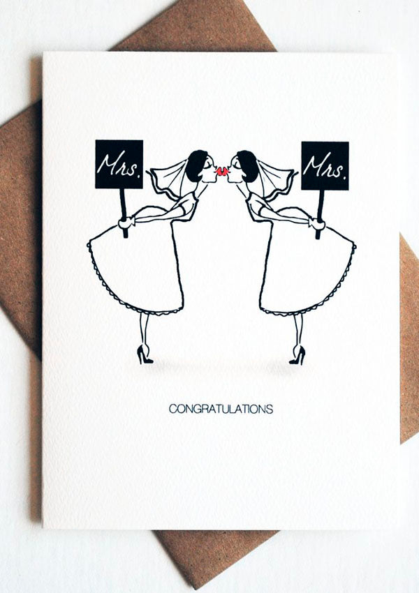 Sign Sweethearts - Mrs. & Mrs.