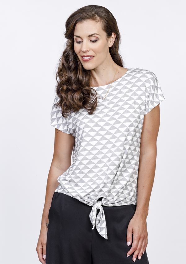 Bamboo Front Tie Tee