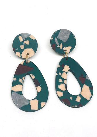 Concrete Jesmonite Drop Earring
