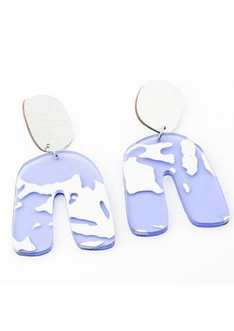 Mirror Violet Earrings