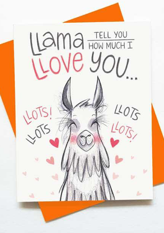 Llama Tell You Card