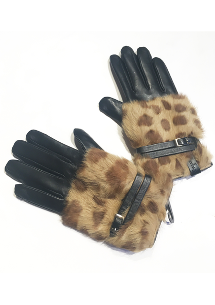 Printed Leather Glove