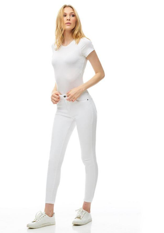 High Skinny 360 stretch White
