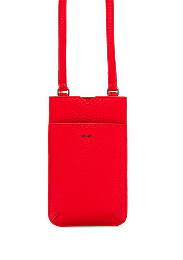 Vegan crossbody. tech-friendly bag. Small crossbody. Red crossbody.