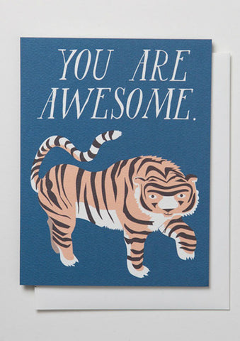 You Are Awesome Tiger Card
