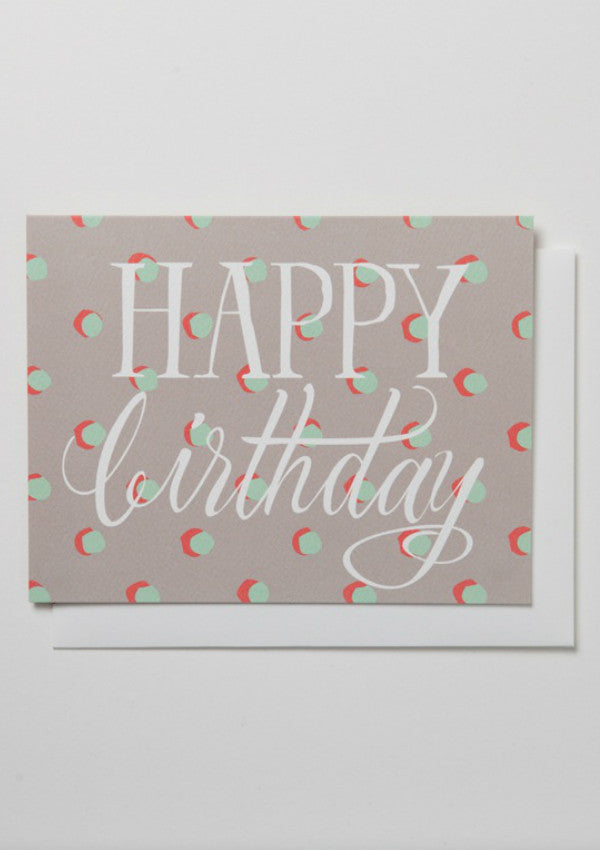 Happy Birthday Dots Card