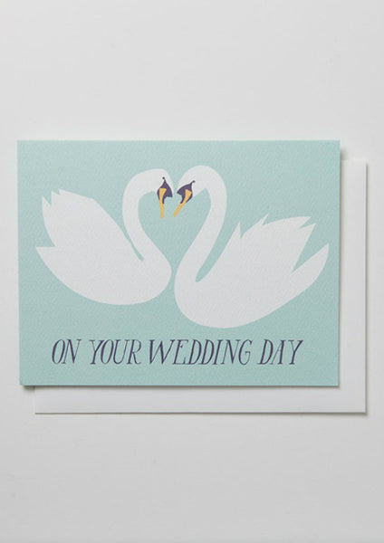 Swan Wedding Day Card