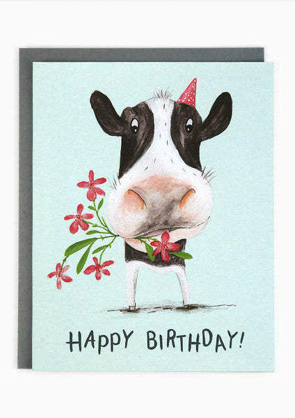 Birthday Cow Card