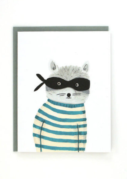 Raccoon Bandit Card