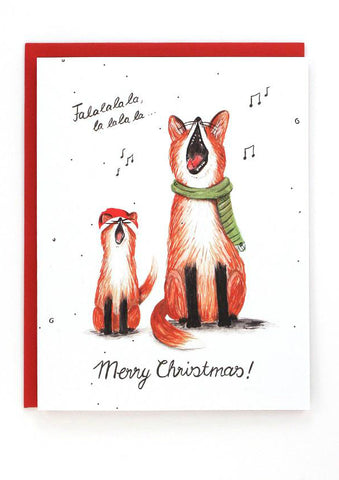 Singing Foxes Card