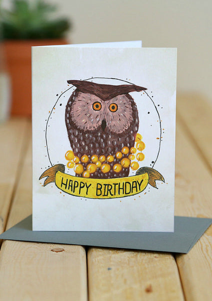 Bird Owl Card