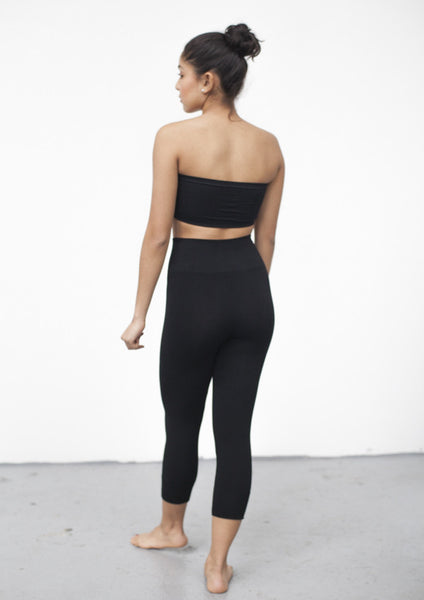 Bamboo High-Waist Capri Leggings