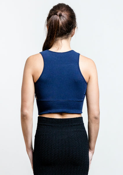 Bamboo Cut Out Crop Tank