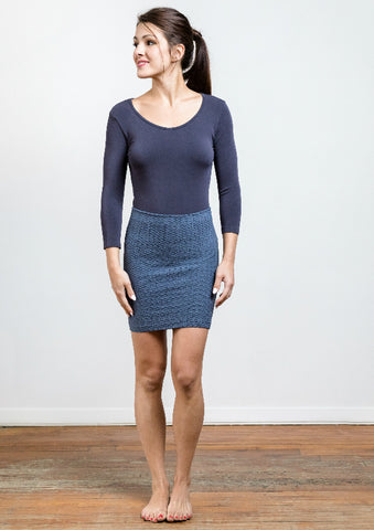 Seamless Diamond Knit Mini Skirt