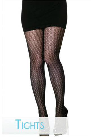 Diamond Pattern Tights