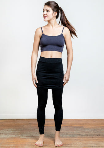 Seamless Legging With Skirt