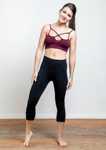 Seamless Nylon Capri Legging