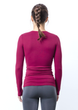 Seamless Nylon Crew Neck Long Sleeve