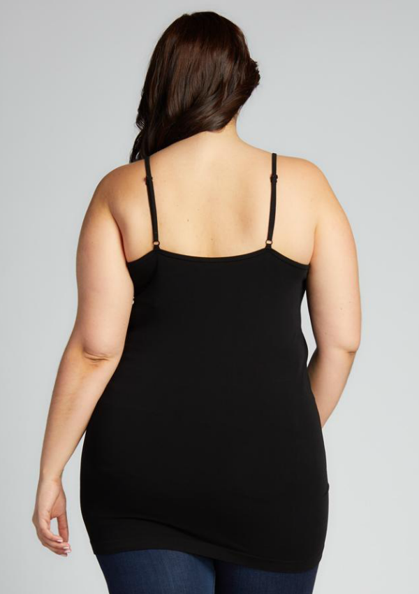 Plus Size Bamboo Cross Front Cami