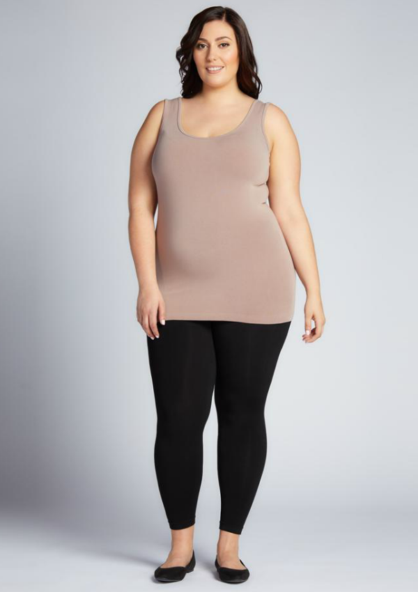 Plus Size Nylon Fleece Lined Leggings