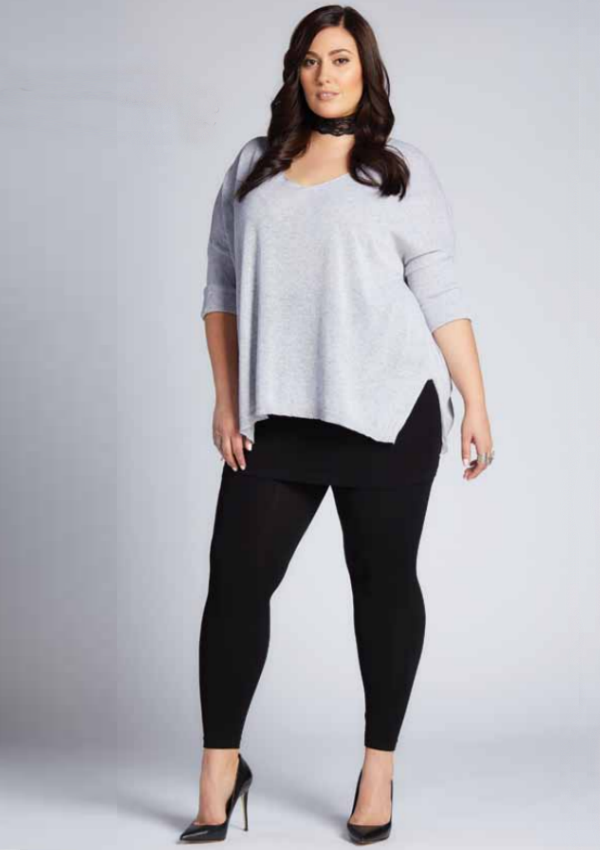 Plus Size Bamboo Legging w/ Skirt