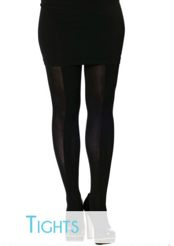 Stripe Tights with Ruched Centre
