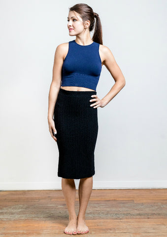 Seamless Textured Skirt to Dress