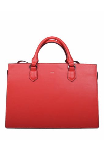 Beth Vermillion Structured Satchel