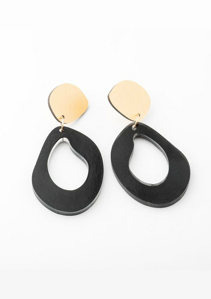 Ink Fluid Drop Earring