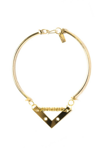Hollie Collar in Brass