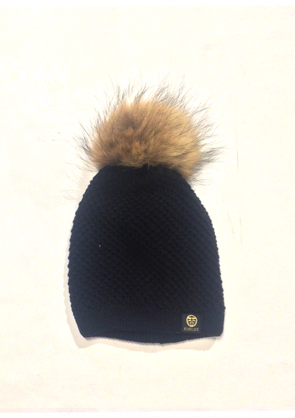 Toque w/ Detachable Pom