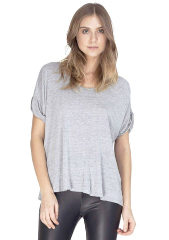 Resolve T Shirt w/ Wide Scoop Neck