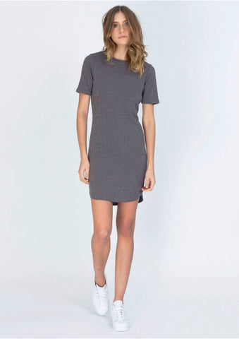 Symmetry Ribbed T Shirt Dress