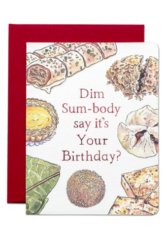 Dim Sum Birthday Card