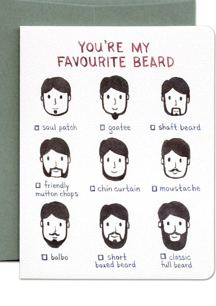 Favourite Beard Card