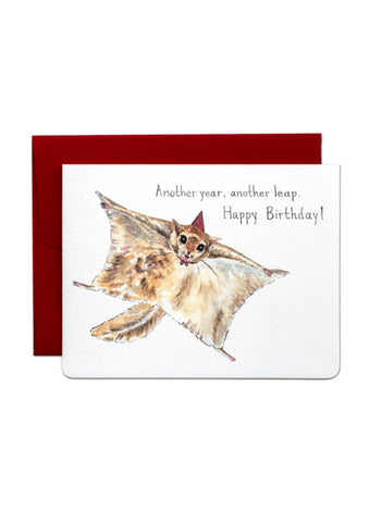 Flying Squirrel Birthday Card