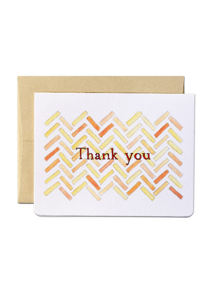 Herringbone Thank You Card